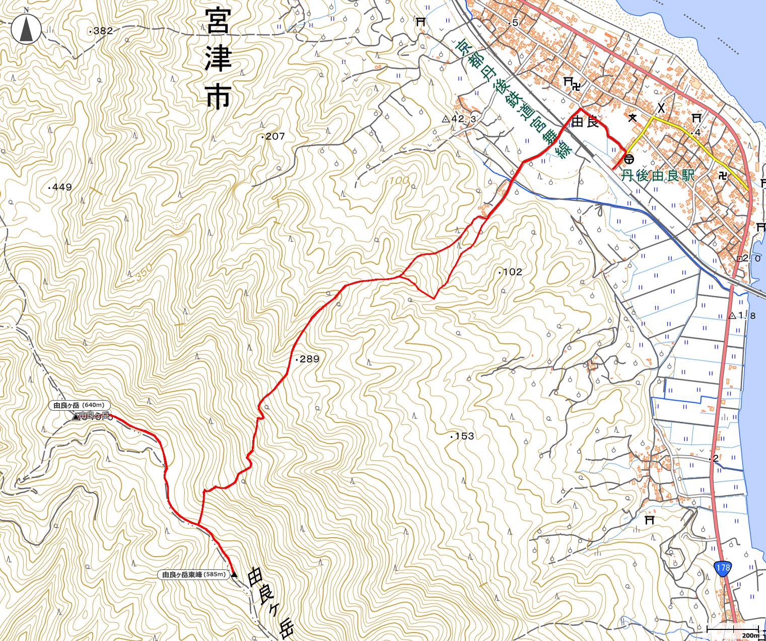 由良ヶ岳地図