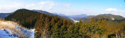 三峰山下山時にみえた展望のパノラマ